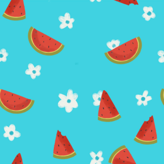 Watermelon and Flowers